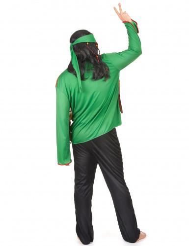 Grünes Hippie-Kostüm für Herren-2