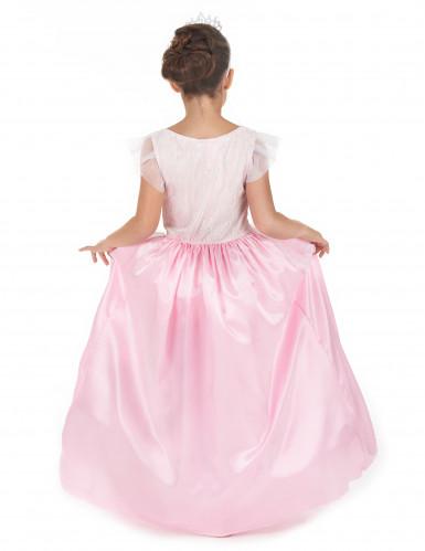Prinzessinnen-Kostüm mit Reifrock für Mädchen weiss-rosa-2