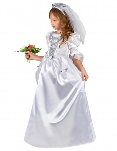 Brautkostüm mit Schleier für Mädchen-1