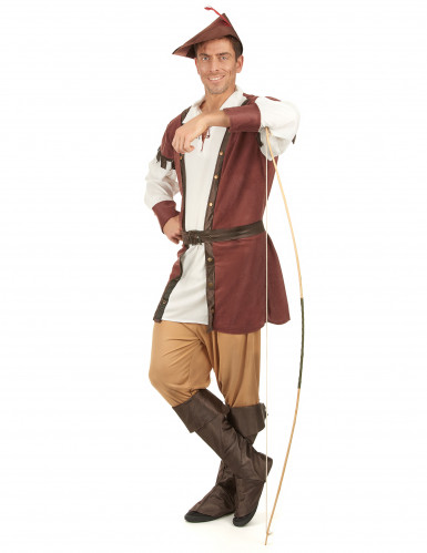 Mittelalterliches Waldmann-Kostüm für Herren-1