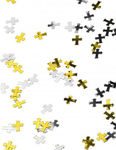 Silbernes und goldenes Kreuz-Konfetti