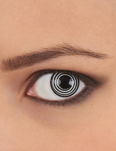 Originelle Kontaktlinsen schwarz-weiße Spirale