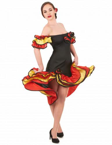 Flamencotänzerinnen-Paarkostüm für Mutter und Tochter-1