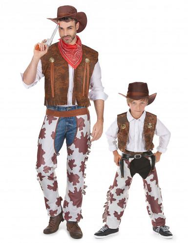 Cowboy-Paarkostüm für Vater und Sohn
