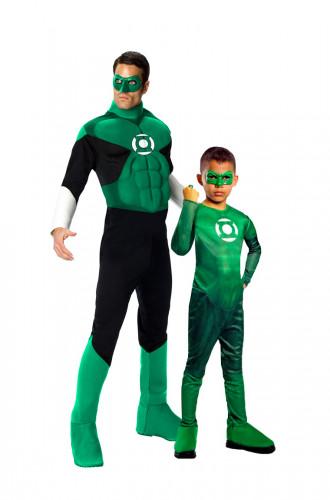 Green Lantern™-Paarkostüm für Vater & Sohn