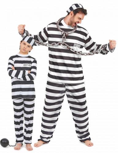 Gefangenen-Paarkostüm für Vater & Sohn