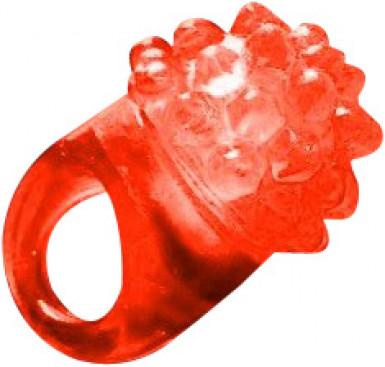 Magischer Ring in rot mit LED-Licht