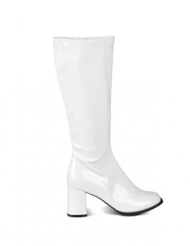 Weiße Lackstiefel für Damen