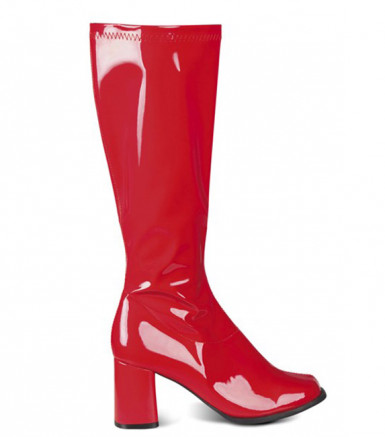 Rote Lackstiefel für Damen