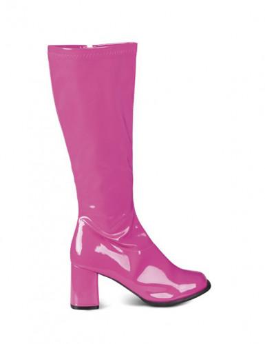 Pinke Lackstiefel für Damen
