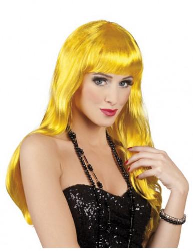 Gelbe Langhaar-Perücke für Damen