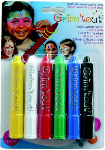 6 Grim'tout Make-up-Stifte zum Drehen, ohne Paraben