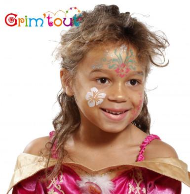 Wiederverwendbare Grim'tout Make-up-Schablone Blumen-1