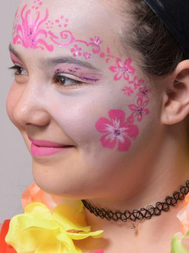 Wiederverwendbare Grim'tout Make-up-Schablone Blumen-2