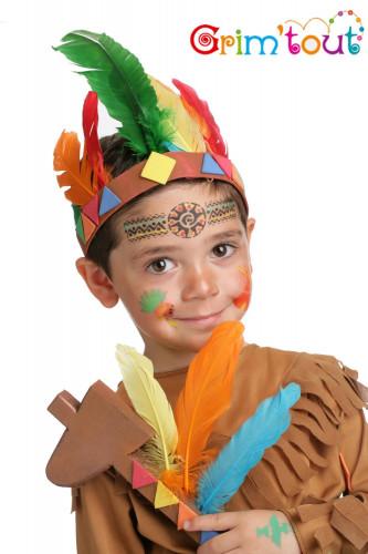 Wiederverwendbare Grim'tout Make-up-Schablone Indianer-1