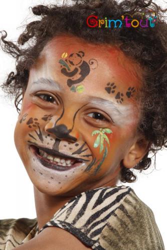 Wiederverwendbare Grim'tout Make-up-Schablone Dschungel-Bewohner-1