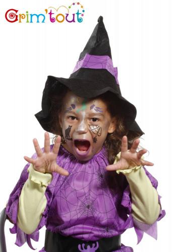 Wiederverwendbare Grim'tout Make-up-Schablone Hexe und Halloween-1