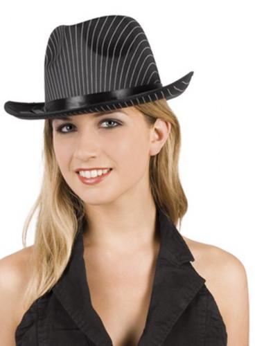 Gestreifter Gangster-Hut für Damen