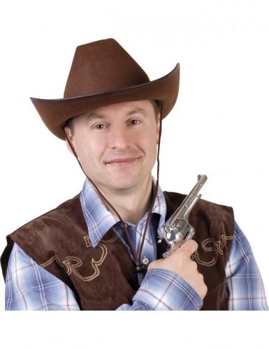 Brauner Cowboyhut für Erwachsene