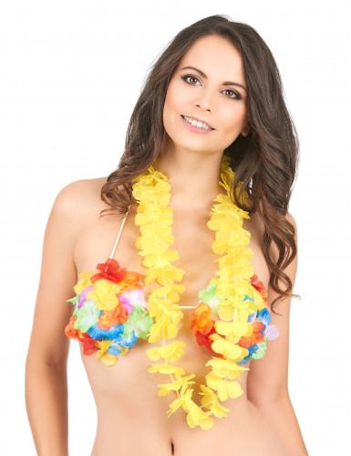 Gelbe Hawaii Blumen-Kette-1