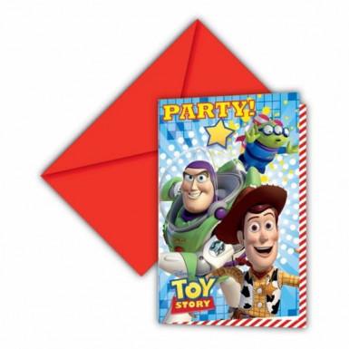 6 Einladungs ??Karton Toy Story Star Power™