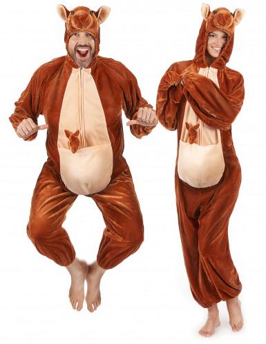Känguru-Erwachsenenkostüm braun-beigefarben