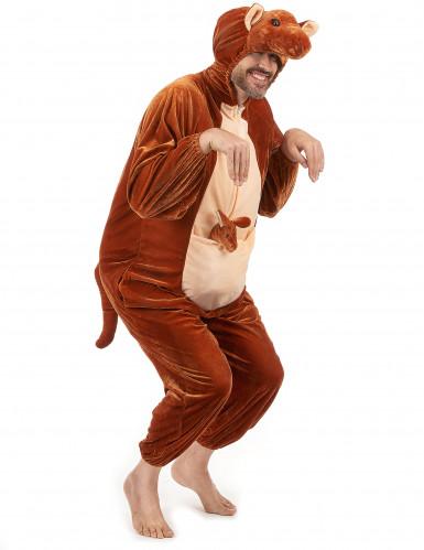 Känguru-Erwachsenenkostüm braun-beigefarben-3