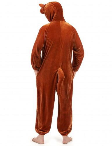 Känguru-Erwachsenenkostüm braun-beigefarben-4