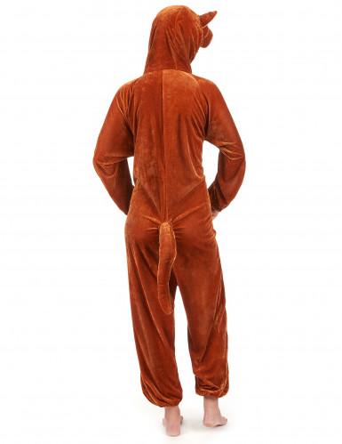 Känguru-Erwachsenenkostüm braun-beigefarben-2