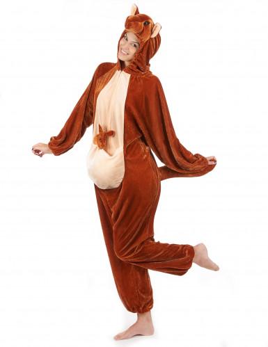 Känguru-Erwachsenenkostüm braun-beigefarben-1