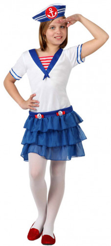 Matrosin-Kostüm für Mädchen