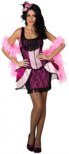Rosa Cabaret-Tanz-Kostüm für Damen