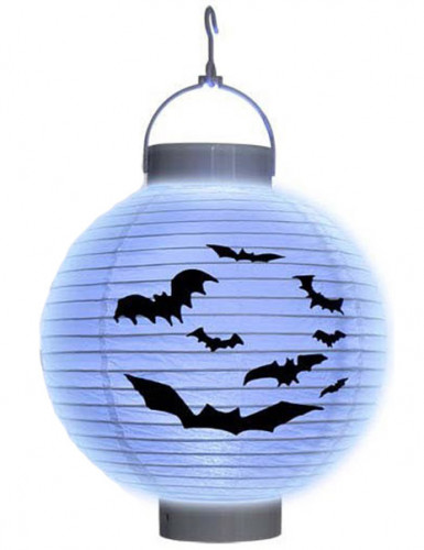 Fledermaus LED-Lampion aus Papier Halloween