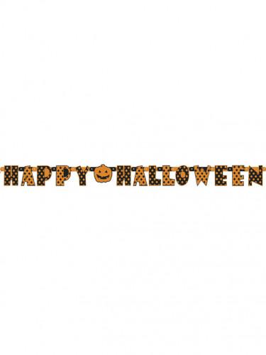 Gelenkige Halloween Girlande Orange mit Punkten