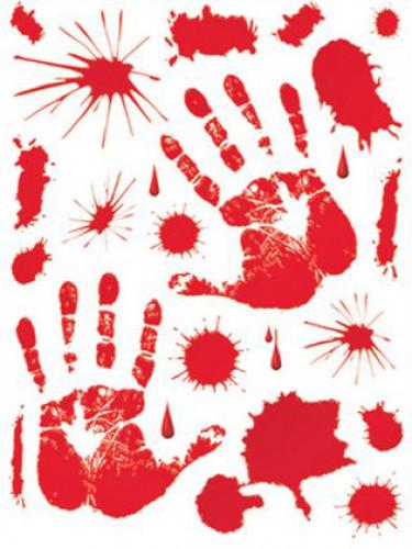 Blutflecken-Sticker