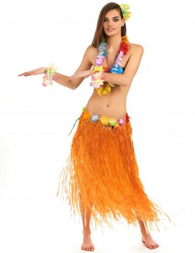 Orangefarbener Hawaii-Rock für Erwachsene