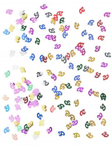 Buntes Tischkonfetti Zahl 20 15g-1