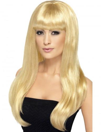 Blonde Perücke mit langem Haar für Damen