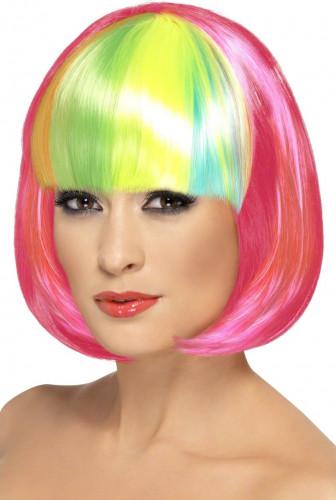 Bob-Frisur Perücke in rosa für Damen