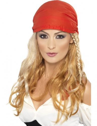 Blonde Piraten-Perücke für Frauen