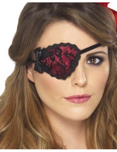 Rote Spitzen-Augenklappe für Damen