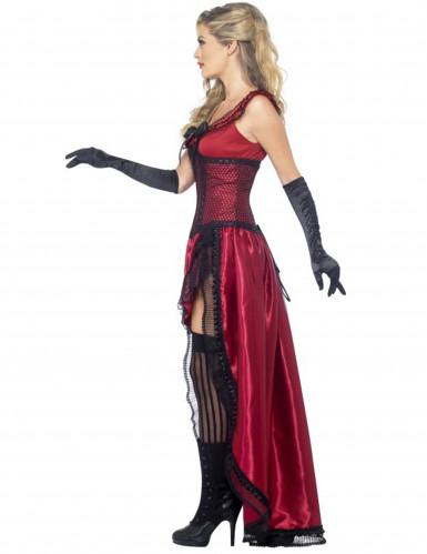 Sexy Saloon-Tänzerin-Kostüm in Rot für Damen-1