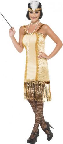 Goldenes Charleston-Kostüm für Damen