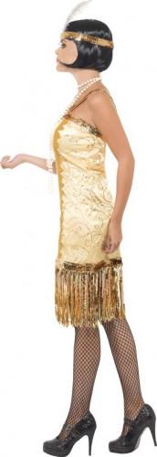 Goldenes Charleston-Kostüm für Damen-1