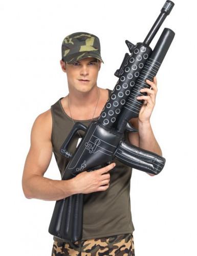 Riesiges aufblasbares Maschinengewehr für Erwachsene schwarz
