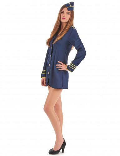 Flugbegleiterinnen Kostüm für Damen-1