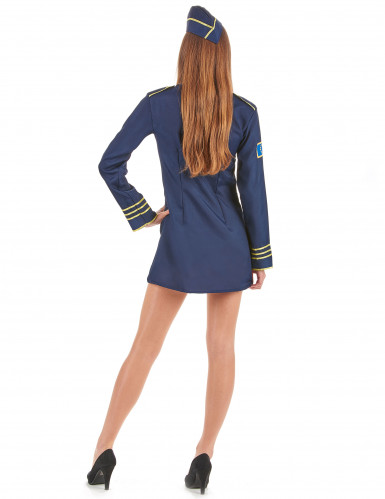 Flugbegleiterinnen Kostüm für Damen-2