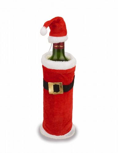weihnachtsmann mantel und m tze f r flaschen partydeko. Black Bedroom Furniture Sets. Home Design Ideas
