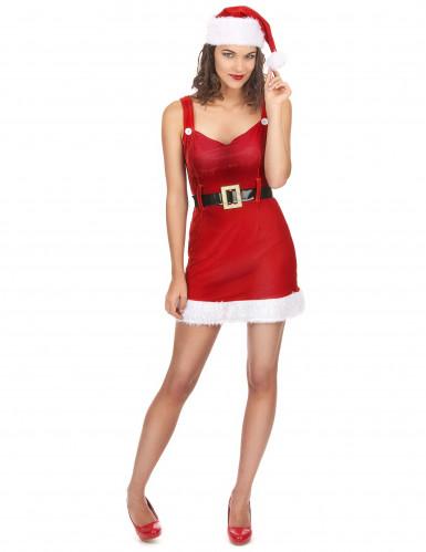 Sexy Weihnachtsfrau-Kostüm mit Gürtel