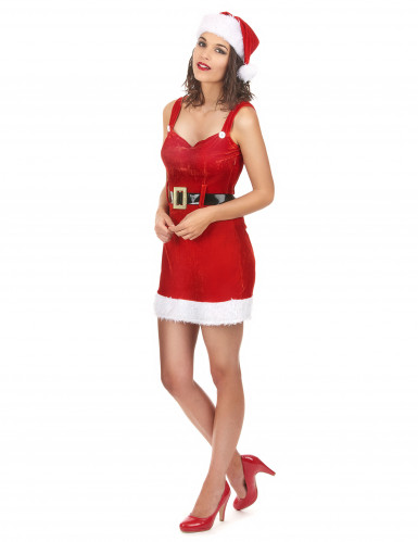 Sexy Weihnachtsfrau-Kostüm mit Gürtel-1